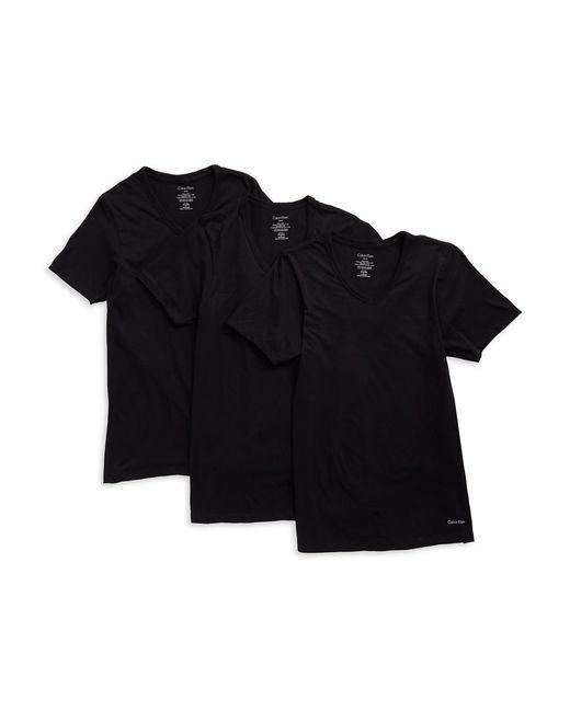 Calvin Klein | Black 3-pack Slim Fit Tees for Men | Lyst