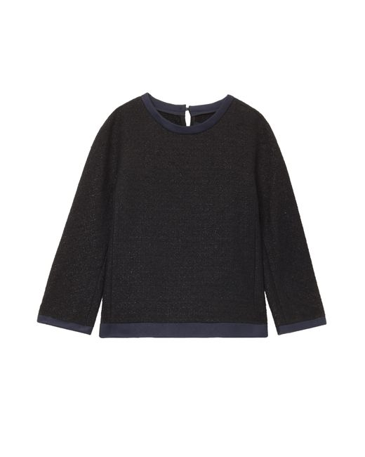 Martin Grant | Black Boucle Top With Satin Trim | Lyst