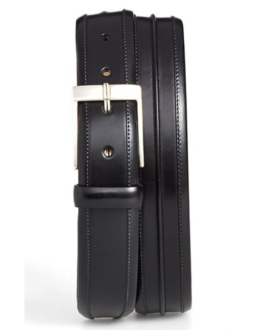 Mezlan | Black 'parma' Leather Belt for Men | Lyst