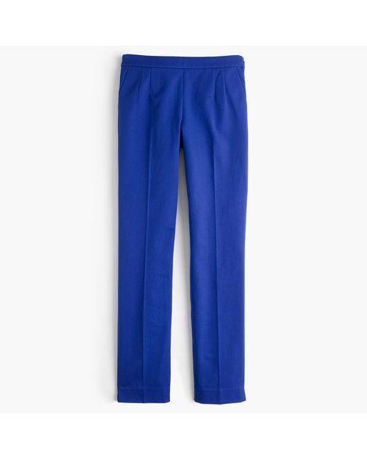 J.Crew | Blue Martie Pant In Bi-stretch Cotton | Lyst