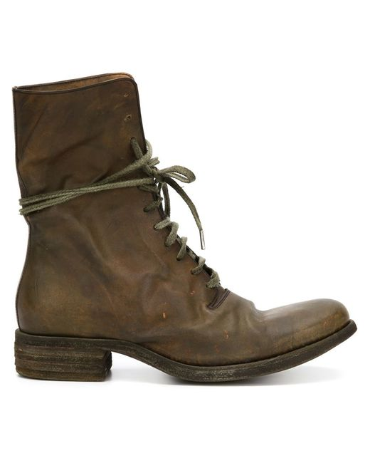a diciannoveventitre lace up ankle boots in brown for