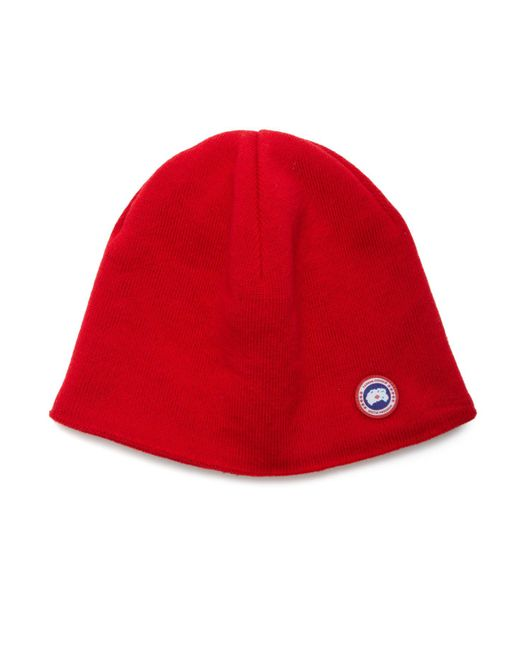 Canada Goose | Red Merino Wool Beanie | Lyst
