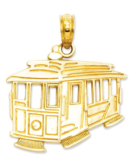 Macy's | Metallic 14k Gold Charm, Cable Car Charm | Lyst