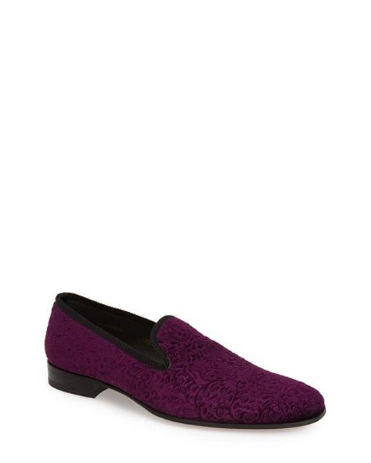 Mezlan | Purple 'desden' Velvet Loafer for Men | Lyst