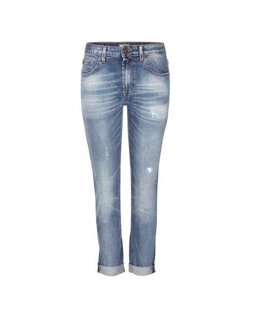 True religion Grace Slouchy Skinny Boyfriend Jeans in Blue (denim) | Lyst