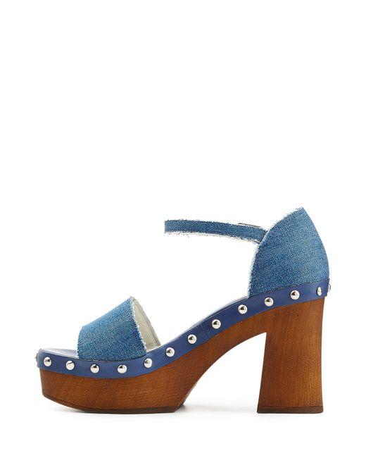 steffen schraut denim platform sandals blue in blue
