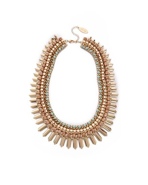 Adia Kibur | Green Crystal Statement Necklace | Lyst