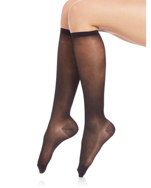 Falke | Black Leg Vitalizer 20 Light Compression Knee Highs | Lyst