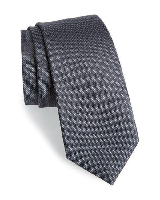 Calibrate | Gray Woven Silk Tie for Men | Lyst