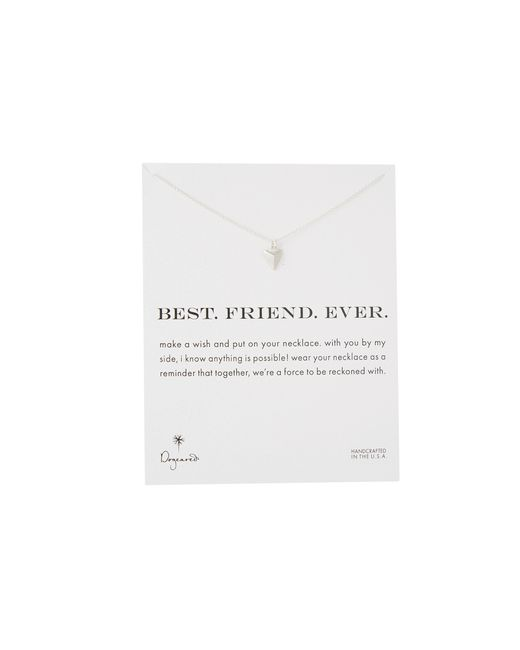 Dogeared | Metallic Best. Friend. Ever. Pyramid Heart Reminder | Lyst