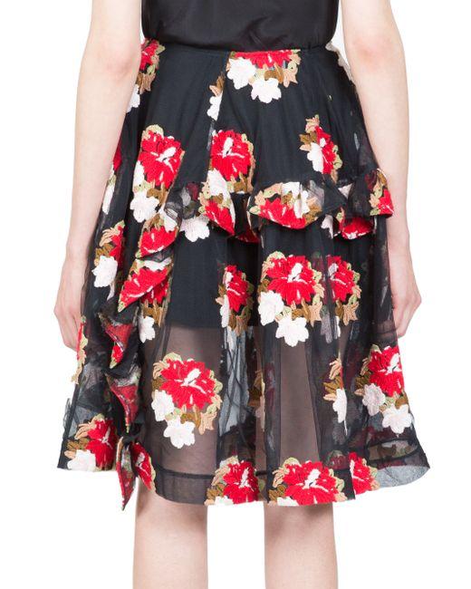 Simone Rocha | Flower Embroidered Tulle Skirt | Lyst