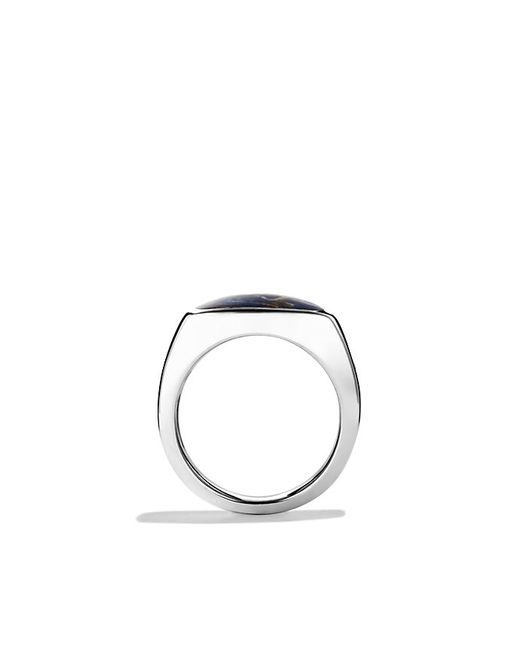 David Yurman | Metallic Exotic Stone Signet Ring With Pietersite for Men | Lyst