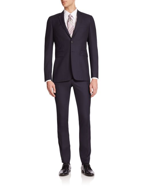 Burberry | Blue Stirling Two-button Wool Suit for Men | Lyst