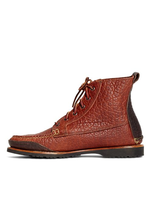 Brooks Brothers Rugged Leather Boots In Brown For Men Lyst