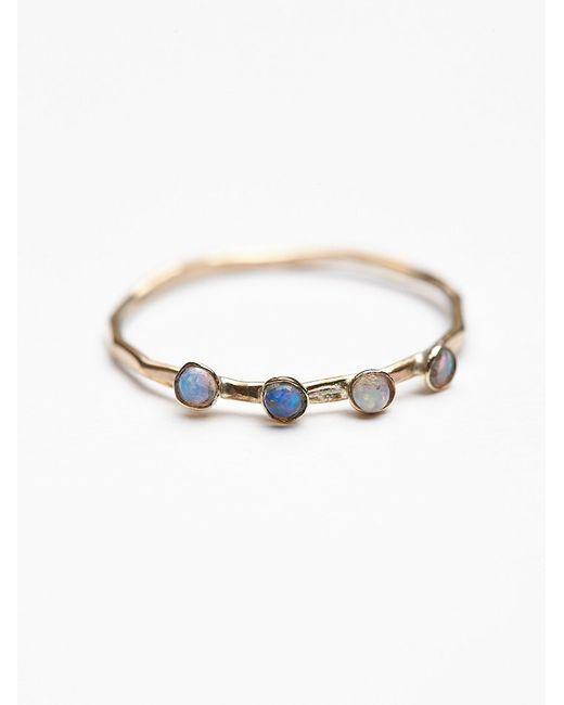 Free People | Metallic Crown Opal Delicate Ring | Lyst