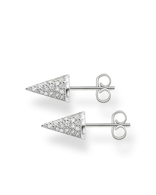Thomas Sabo | Metallic Kathmandu White Pave Spike Ear Studs | Lyst