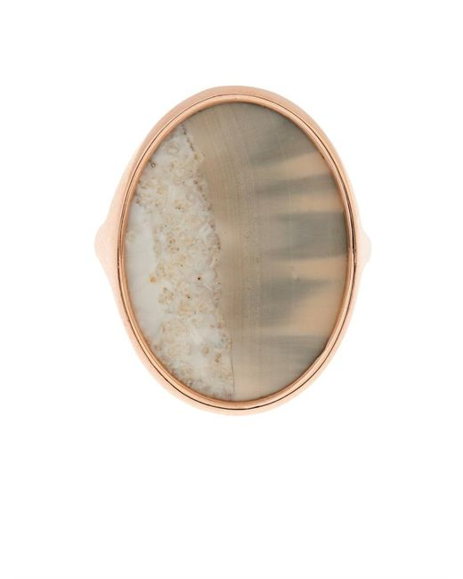 Monique Péan | Pink Fossilised Walrus Ivory & Rose-Gold Ring | Lyst