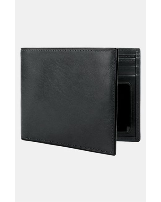 Bosca | Black Leather Bifold Wallet for Men | Lyst