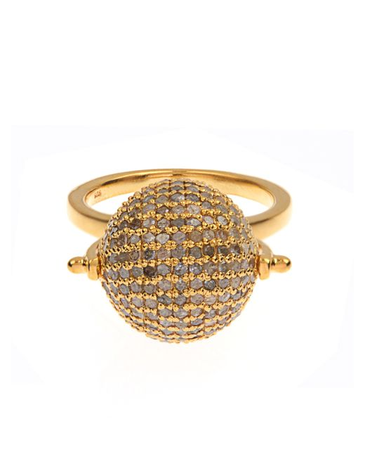 Jade Jagger | Yellow Diamond & Gold-Plated Disco Ball Ring | Lyst
