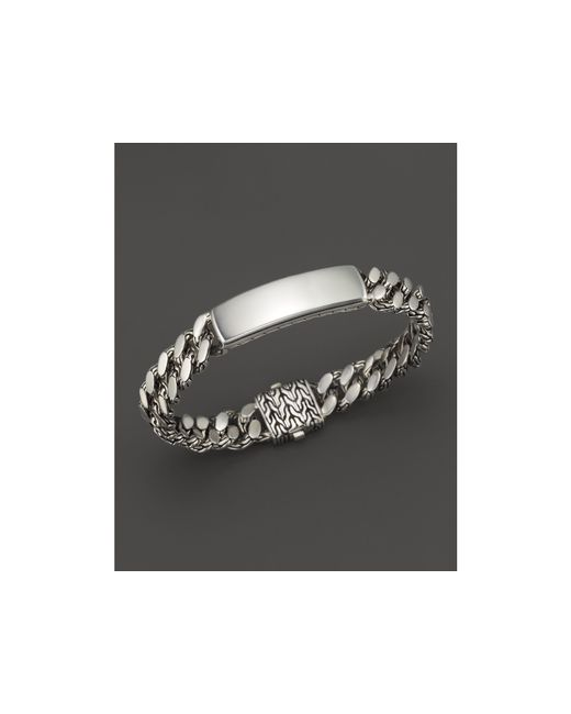 John Hardy | Metallic Men's Classic Chain Gourmette Silver Medium Link Id Bracelet for Men | Lyst