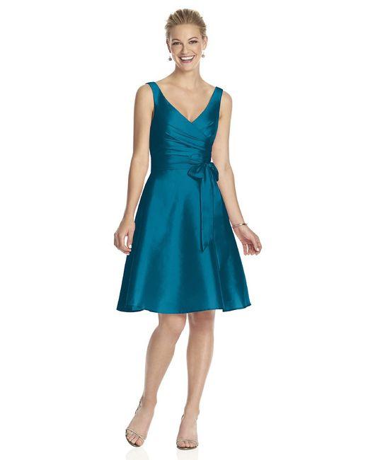 Alfred Sung | Blue D Bridesmaid Dress In Caspian | Lyst