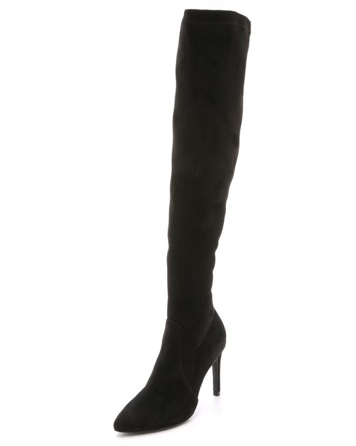 Joie | Jemina Suede Over The Knee Boots - Black | Lyst