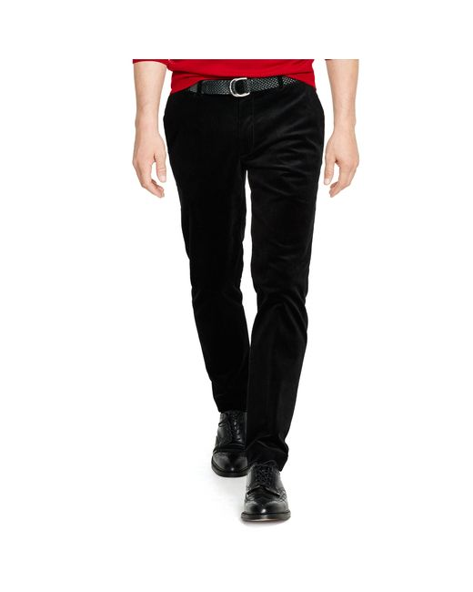 Polo Ralph Lauren | Black Stretch Slim-fit Corduroy Pant for Men | Lyst