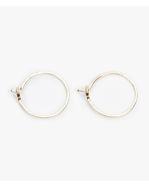 Catbird | Metallic Tiny Hoop Earrings | Lyst