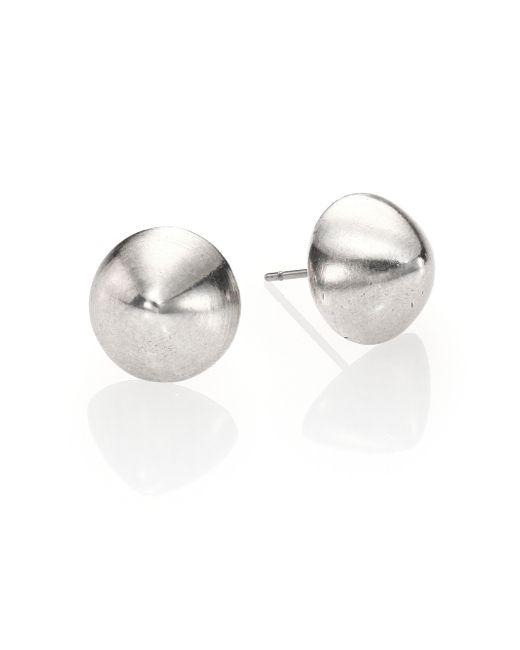 Nest | Metallic Brushed Bi-cone Stud Earrings | Lyst