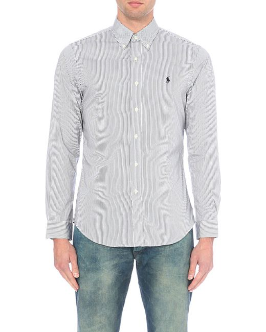 Polo Ralph Lauren   Black Slim-fit Single-cuff Checked Shirt for Men   Lyst