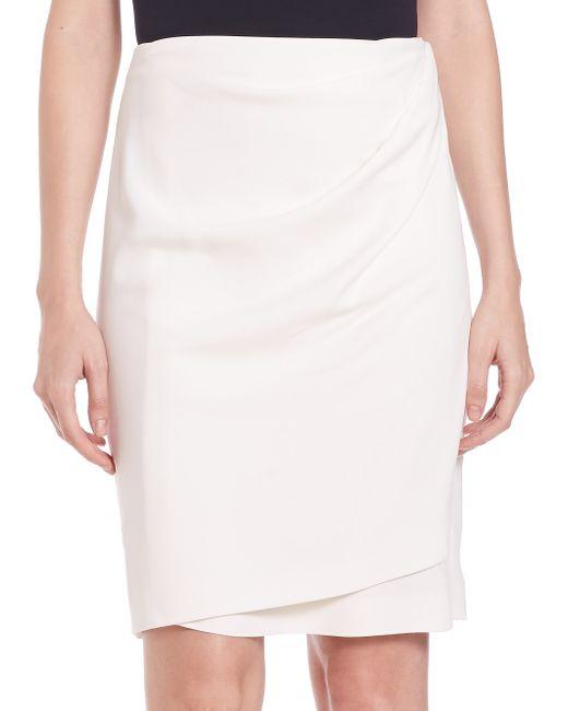 3.1 Phillip Lim | White Draped Wrap Skirt | Lyst