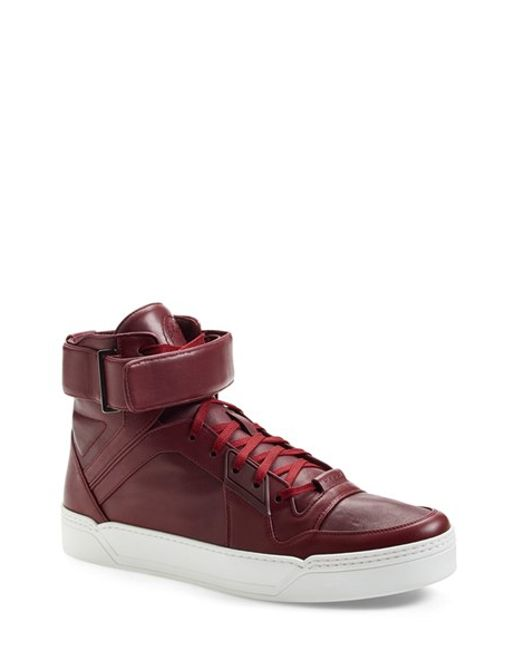 Gucci | Red New Basketball High-Top Sneakers for Men | Lyst