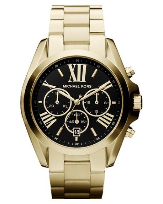 MICHAEL Michael Kors | Metallic Michael Kors 'bradshaw' Chronograph Bracelet Watch | Lyst