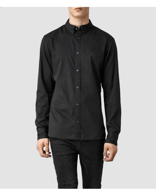 AllSaints | Black Redondo Shirt for Men | Lyst