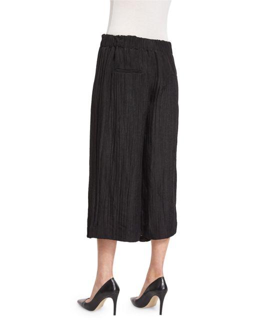 Joseph Crinkled Wide-leg Gauze Pants in Black - Save 15% | Lyst