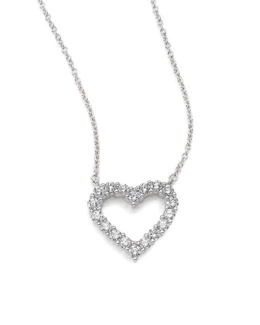 Kwiat | Diamond & 18k White Gold Heart Pendant Necklace | Lyst