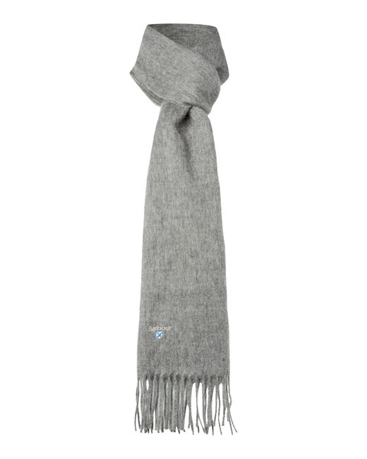 Barbour | Gray Plain Lambswool Scarf for Men | Lyst