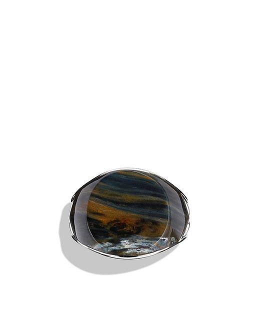 David Yurman   Metallic Chevron Signet Ring With Pietersite for Men   Lyst