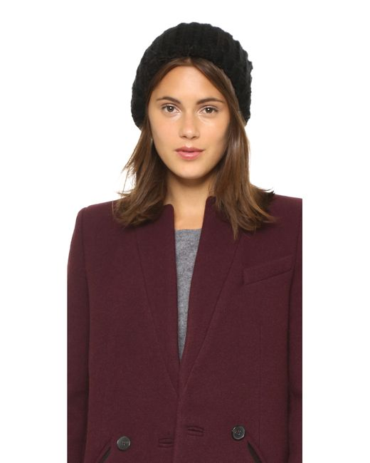 1717 Olive | Black Woven Rib Beanie Hat | Lyst