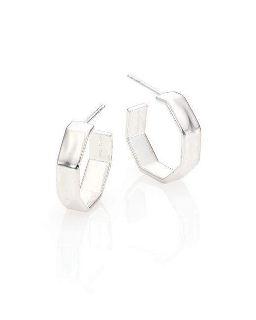 Ippolita | Metallic Glamazon Sterling Silver Octagonal Hoop Earrings/0.75 | Lyst