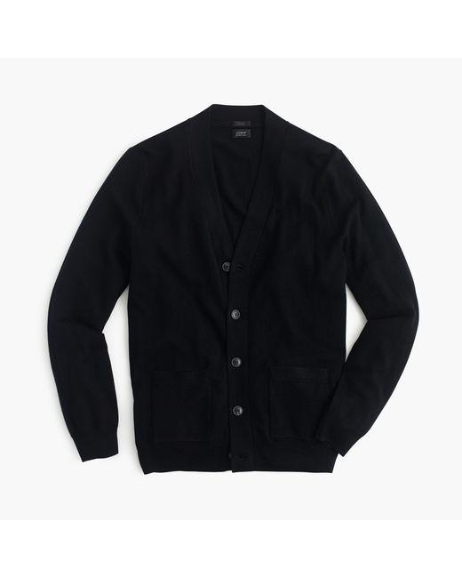 J.Crew   Black Slim Merino Wool Cardigan Sweater for Men   Lyst