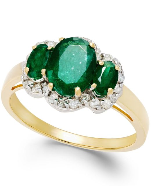 macy s emerald 1 9 10 ct t w and 1 4 ct t w