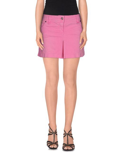 galliano denim skirt in purple light purple lyst