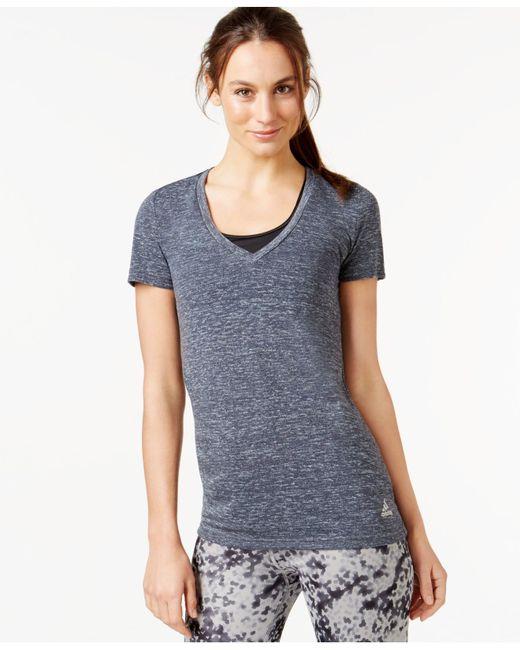 Adidas Originals | Blue 24 Seven Climalite® V-neck T-shirt | Lyst