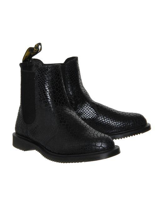 dr martens kensington flora boots in black save 21 lyst. Black Bedroom Furniture Sets. Home Design Ideas