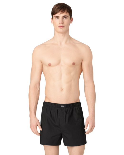 calvin klein three pack woven boxer shorts set in black. Black Bedroom Furniture Sets. Home Design Ideas