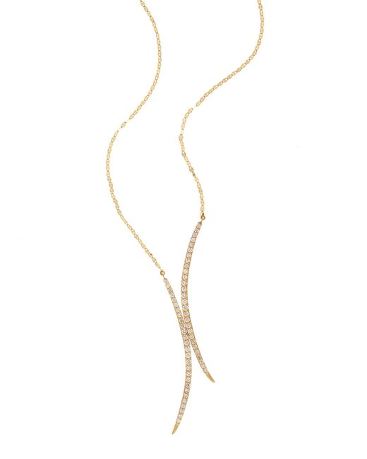 Lana Jewelry | Metallic Cross Mirage Diamond Pendant Necklace | Lyst