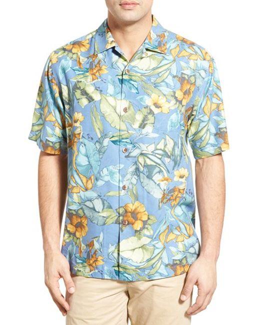 Tommy bahama 39 bloomarang 39 short sleeve silk camp shirt in for Tommy bahama catalina twill silk camp shirt