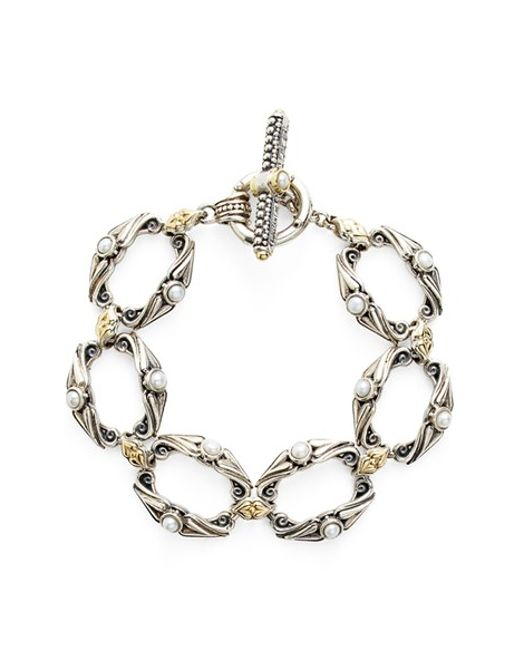 Konstantino   White 'amphitrite' Pearl Link Bracelet   Lyst