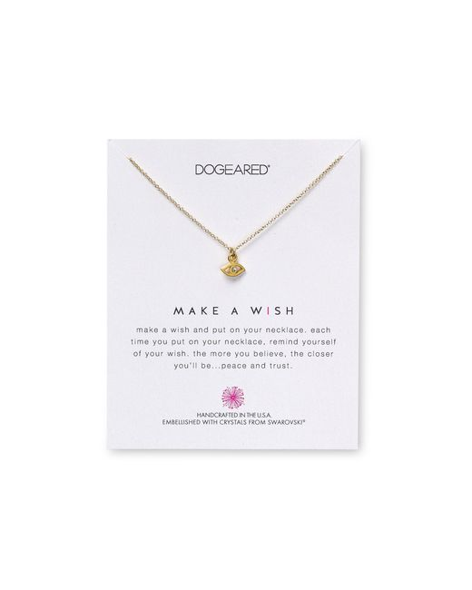 "Dogeared | Metallic Swarovski Crystal Make A Wish Evil Eye Necklace, 18"" - 100% Bloomingdale's Exclusive 